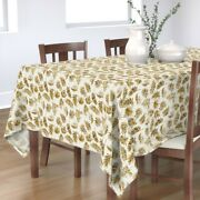 Tablecloth Leaves Floral Nature Leaf Palm Summer Beach Cotton Sateen