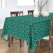 Tablecloth Halloween Spooky Witches Haunted Spider Pumpkins Crow Cotton Sateen