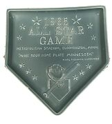 1965 Mlb Baseball All-star Red Wing Pottery Home Plate Rare