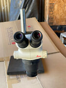 Leica S6e Stereo Zoom Microscope With Base And Eye Pieces