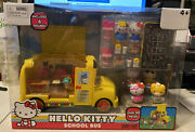 New Jada Tiys Hello Kitty Deluxe School Bus Play Set And Figures 30 + Pieces Htf