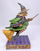 Jim Shore Heartwood Creek Swept Away Witch On Broom With Black Cat 2006