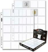 100 Bcw Polypropylene 20 Pocket Coin Pages For 2 X 2 S