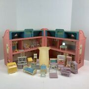 Vintage Jean Hoefler Doll House And Furniture 1970and039s West Germany