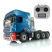 Lesu 1/14 Metal Scania 88 Chassis Rc Tractor Truck Hercules Cabin Radio Sound