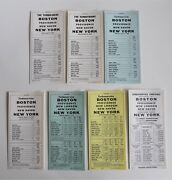 Lot Of 7 Vintage Penn Central Railroad Pc Turboliner Timetable Cards New York