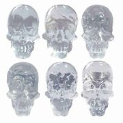 Cabinet Knobs Simulated Skull Faces Clear Resin Decorative Drawer Knobs For Kids