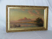 Antique Original Oil On Canvas South West Taos Mountain Lake Painting
