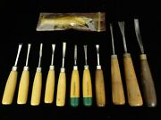 Millers Falls, Flexcut, Unknown Brand Wood Carving Tools 12 Piece Set