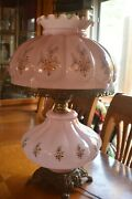 Antique Vintage Pink Gone With The Wind Lamp