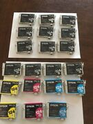 20 Used Empty Epson 125 And 124 Black And Color Ink Cartridges Lot + 2 Sealed Yellow