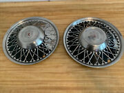 Lyon 15 Hubcaps - Aftermarket 40and039s -50and039s Fake Wire Spoke Set 2 Rat Rod Custom