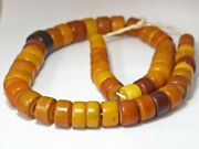 Excitedly Tonbodama African Amber Cylindrical Medium And Large Bead Series