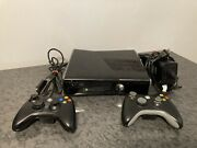 Microsoft Xbox 360 S Slim 250gb Console Bundle 1439 2 Oem Controllers Tested