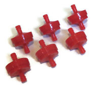 Pack Of 6 Fuel Filters For Craftsman Spa8s1065056801 Fits 1/4 Gas Line Engine