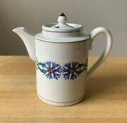 Antique Villeroy And Boch Dresden Saxony Blue Floral Mini Coffee Pot And Lid - Vguc