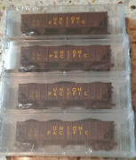 N-scale Micro Trains Nsc Special Run 04-18 4 Pack Union Pacific 100 Ton Hoppers