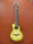 Ibanez Aewc300 Nnb Acoustic Guitar W/pickup Free Shipping To Lower Usa