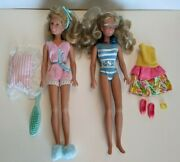 Slumber Party And Makin' Waves Maxie Dolls Lot + Party Dress/shoes/bracelet Mix N