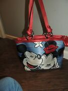 Harveys Seatbelt Bag Disney Mickey Loves Minnie Couture Carriage Ring Tote Rare