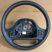 1999-2002 Lincoln Continental Steering Wheel Gray With Radio Climate Buttons
