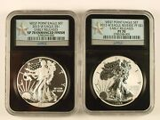 2013 W West Point Silver Eagle Set Ngc Early Release Pf-70 Sp-70