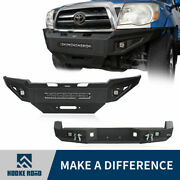 Hooke Road Discovery Ⅱ Front + Rear Bumper Guard Fit 05-15 2nd Gen Toyota Tacoma