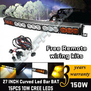 27 Inch Led Work Light Bar Off Road Driving Lamps For Jeep Ford 4wd Tractor Suv
