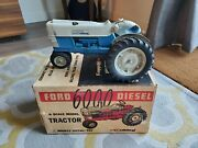 1/12 Vintage Ford 6000 Diesel Tractor By Hubley W/box
