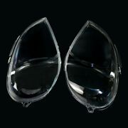 1pair L+r Clear Headlight Lens Cover Fit For Mercedes Benz Ml Class W163 2002-05