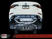 Awe Track Edition Exhaust Non-res Chrome Silver Tip For 19-21 Vw Jetta Gli 2.0t