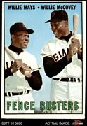 1967 Topps 423 Willie Mays / Willie Mccovey - Fence Busters Giants 3 - Vg