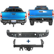 Hooke Road Rear Bumper + Standard Tow Hitch Receiver For Toyota Tacoma 2005-2015