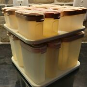 Tupperware Spice Containers And Carousel 16 Containers And Lids Complete