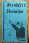 Straight From The Shoulder By Dick Tracy Chester Gould Blue Paperback Original