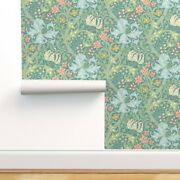 Removable Water-activated Wallpaper William Morris Golden Lily Art Nouveau