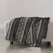 Throw Blanket Africa African Tribal Mud Cloth Afrocentric Primitive 48 X 70in