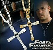 Necklace Pendant Cross Dom Toretto Fast And Furious Vin Diesel Cz Necklace Gift