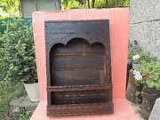Old Antique Wooden Iconostasis Wall Hanging Icon Cupboard Church Orthodox Cross