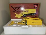First Gear Mack Dump Truck W/snow Plow Triangle Sand And Gravel Tsc 1/34 19-2429