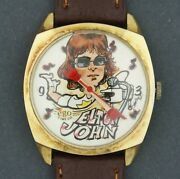 Scarce Vintage 1970's Ego Time Co Elton John Wind-up Musician Character Watch