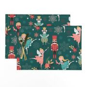 Cloth Placemats Nutcracker Characters Christmas Holiday Ballerina Set Of 2