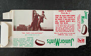 1972 Junior Mints Complete Box Laurel And Hardy Uncut Card 3 Vintage Candy And