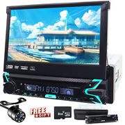 Single 1din In Dash Stereo Car Dvd Cd Player Aux Gps Navi Touch Screen 7 Camera