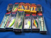 12 Assorted New Rapalas Shad Raps, Original, Scatter Rap, Dt's, Ripin' Rap Other
