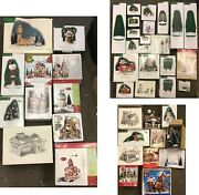 Lot Of 43 Dept. 56 And More - Christmas Collections - See Details - Pre Owned