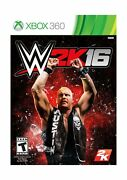 Teen Rated Action English Video Game Wwe 2k16 - Xbox 360 1 Lightweight Packing