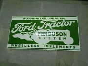 Porcelain Ford Tractor Ferguson Enamel Sign Size 36 X 18 Inches