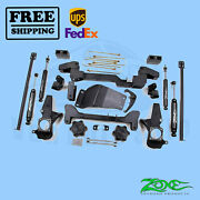 Suspension Lift Kit Zone 6 F And R For Chevy 2500hd Pickup 4wd Gas/diesel 01-10