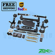 Suspension Lift Kit Zone 4.5 Front And Rear For Chevy 1500 Pickup 4wd 2007-2013